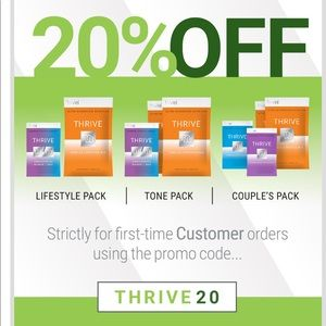 Sale👀 on thrive. 20% off for new customers.